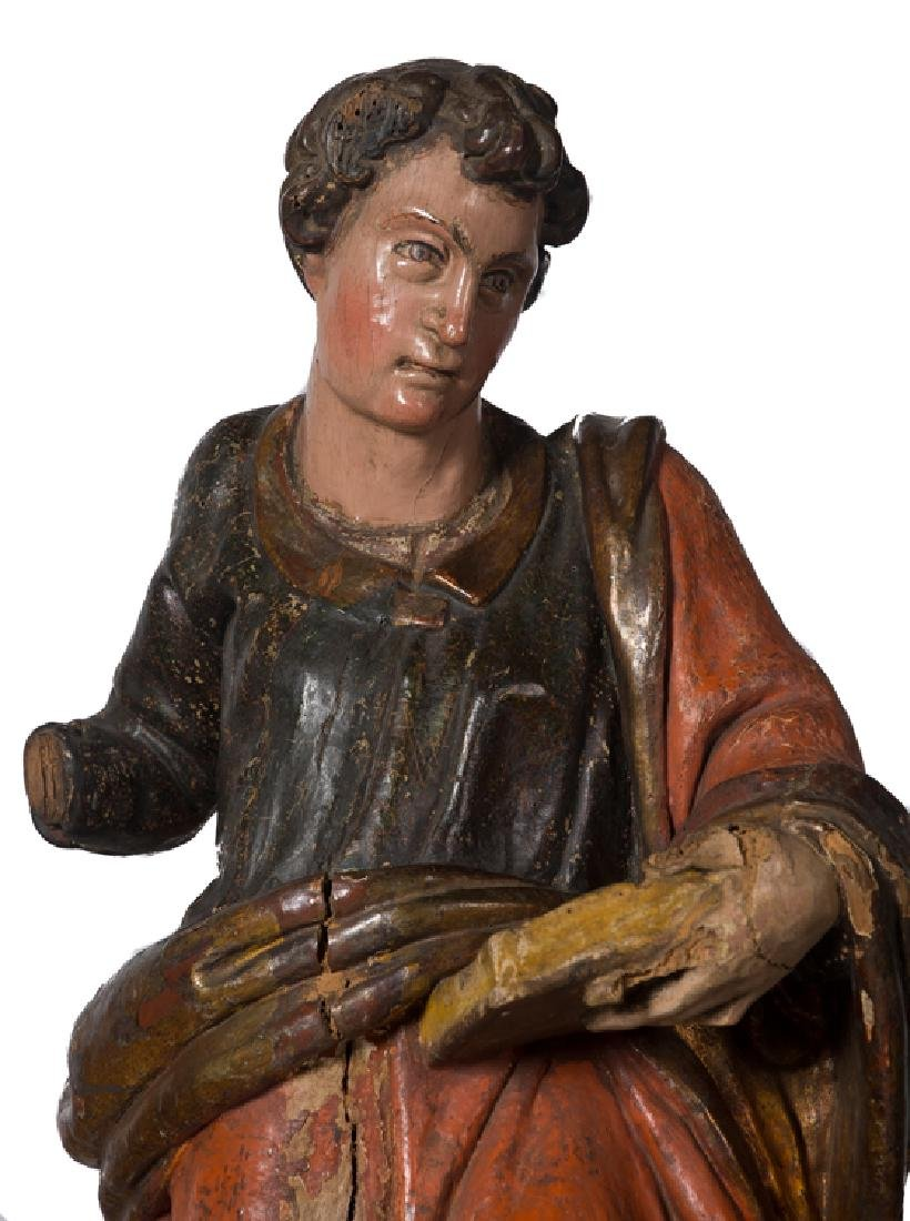 Saint John the Evangelist Carved, gilded and - 2