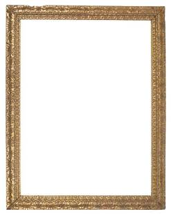 Large carved and gilded wooden Spanish frame 17th