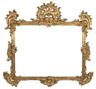 Gran marco en madera talalda y dorada poca Luis XV