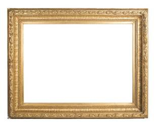 Large carved and gilded wooden Spanish frame 19th