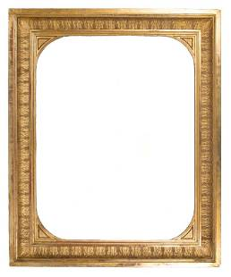Large carved stuccoed and gilded frame Empire