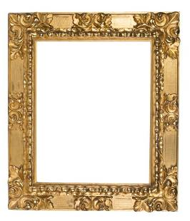 Carved and gilded wooden frame 19th century