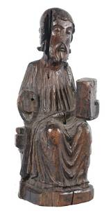 Christ in Majesty or Maiestas Domini Carved wooden