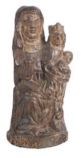 The Virgin and Child with Saint Anne Carved wooden