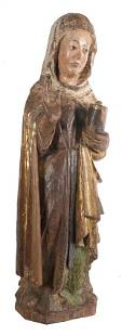 Mary Magdalene Carved polychromed and gilded wooden