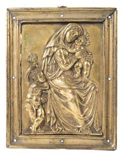 Chased and gilded bronze relief Early 16th century