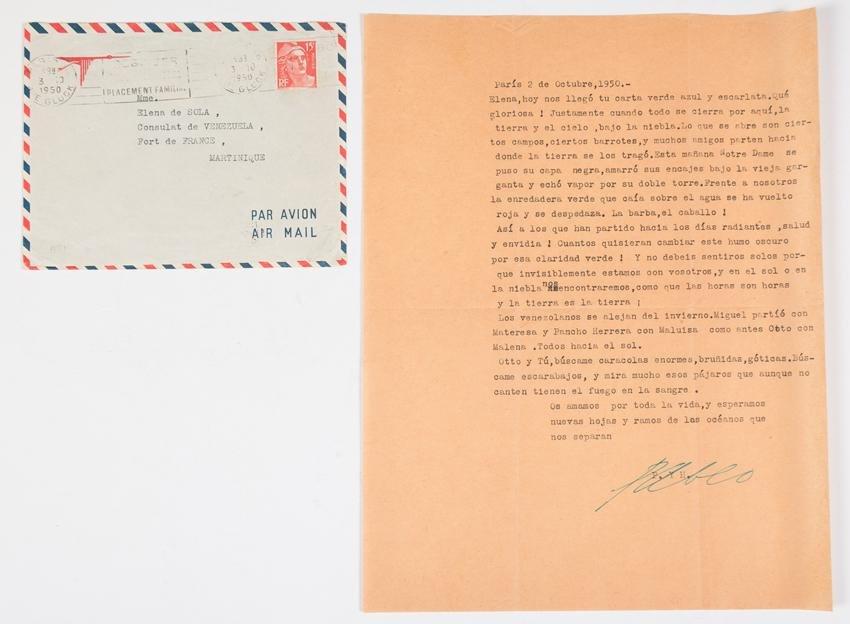 Correspondence between Pablo Neruda and Delia del