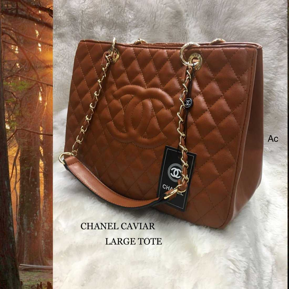 dcde6e99892f Chanel GST PU leather hand bags