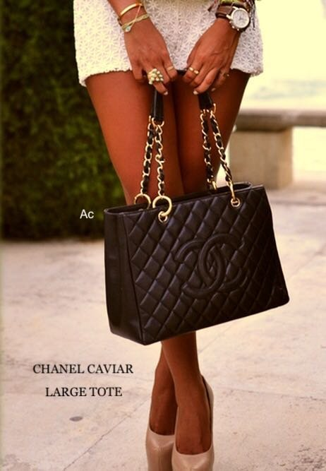 Chanel GST  PU leather hand bags