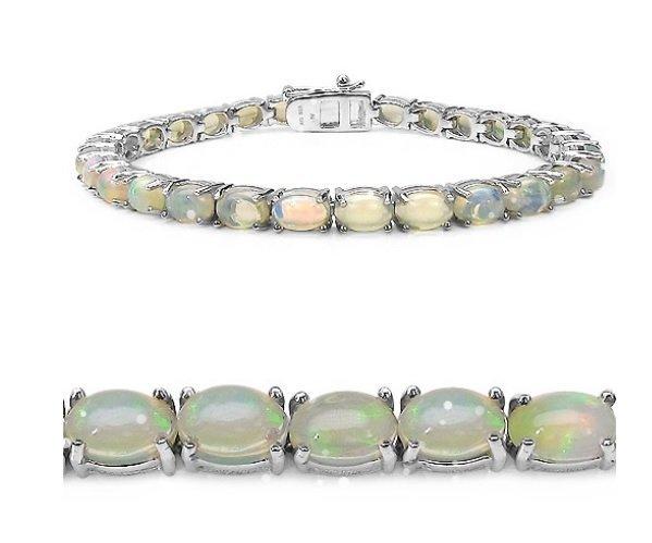 7.70Cts Ethiopian Opal S/Silver Bracelet