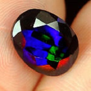 1.70t Natural Ethiopian Black Opal Faceted