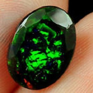 2.10ct Natural Ethiopian Black Opal Faceted