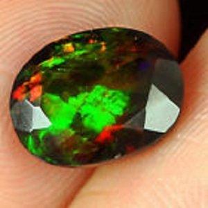1.67ct Natural Ethiopian Black Opal Faceted