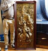 Large Antique GuanYu Warrior Copper Plate