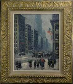 Guy Carleton Wiggins (NY/FL 1883 - 1962) Oil