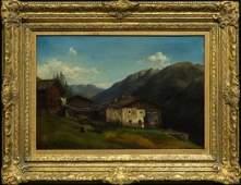 Carl Millner German 18251895 Oil