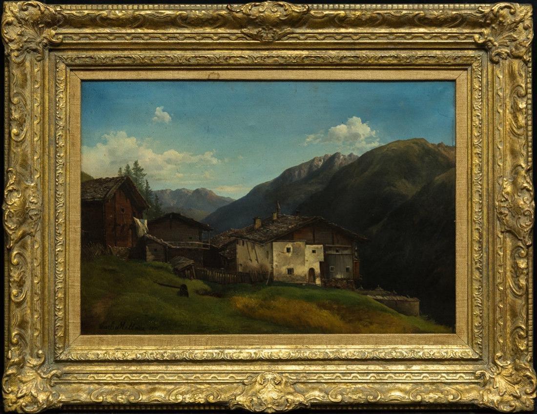 Carl Millner (German 1825-1895) Oil