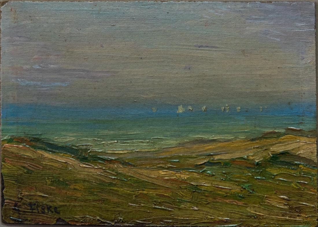 Gertrude H. Fiske (MA 1878 - 1961) Small Oil - 2