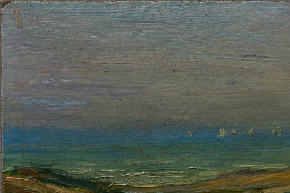 Gertrude H. Fiske (MA 1878 - 1961) Small Oil - 6