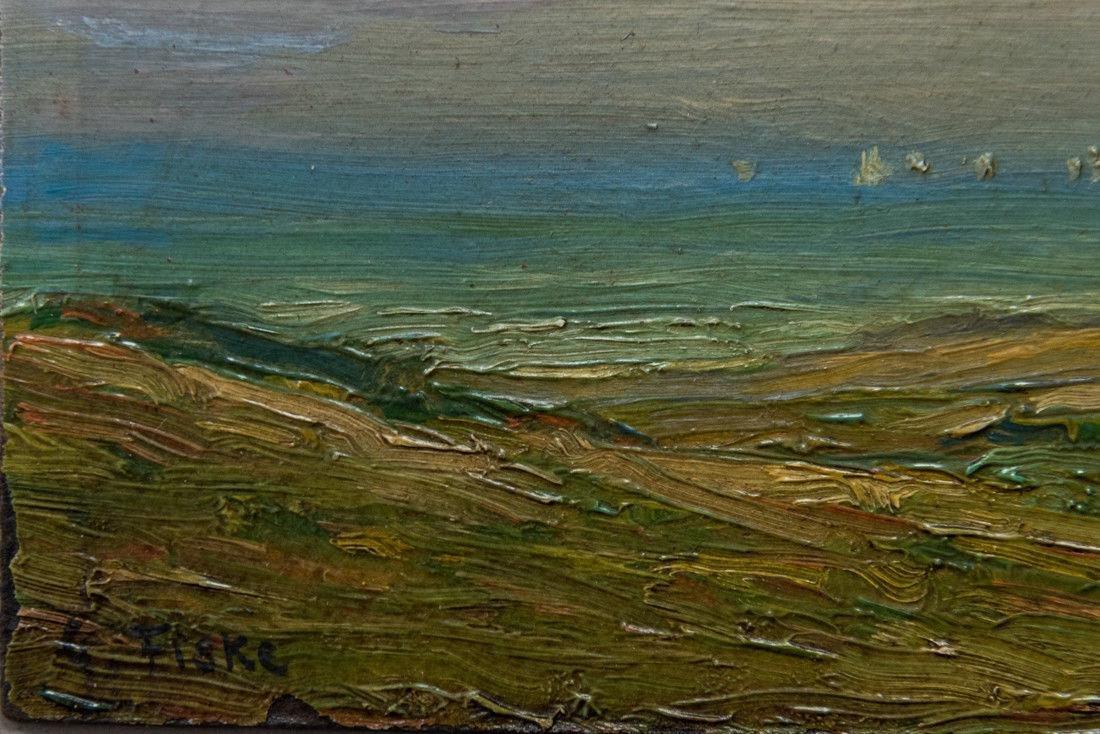 Gertrude H. Fiske (MA 1878 - 1961) Small Oil - 7