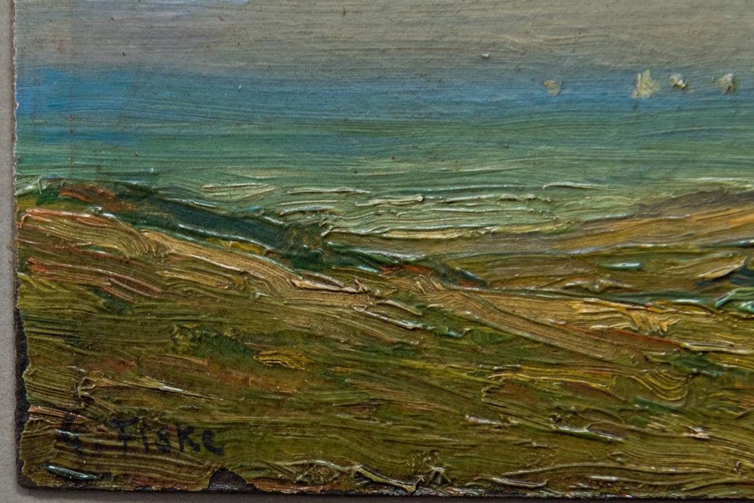 Gertrude H. Fiske (MA 1878 - 1961) Small Oil - 9
