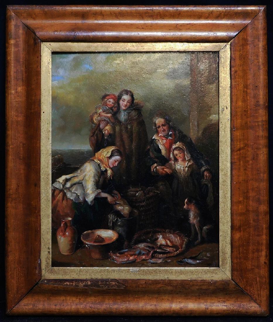 Beautiful Old European Oil Painting
