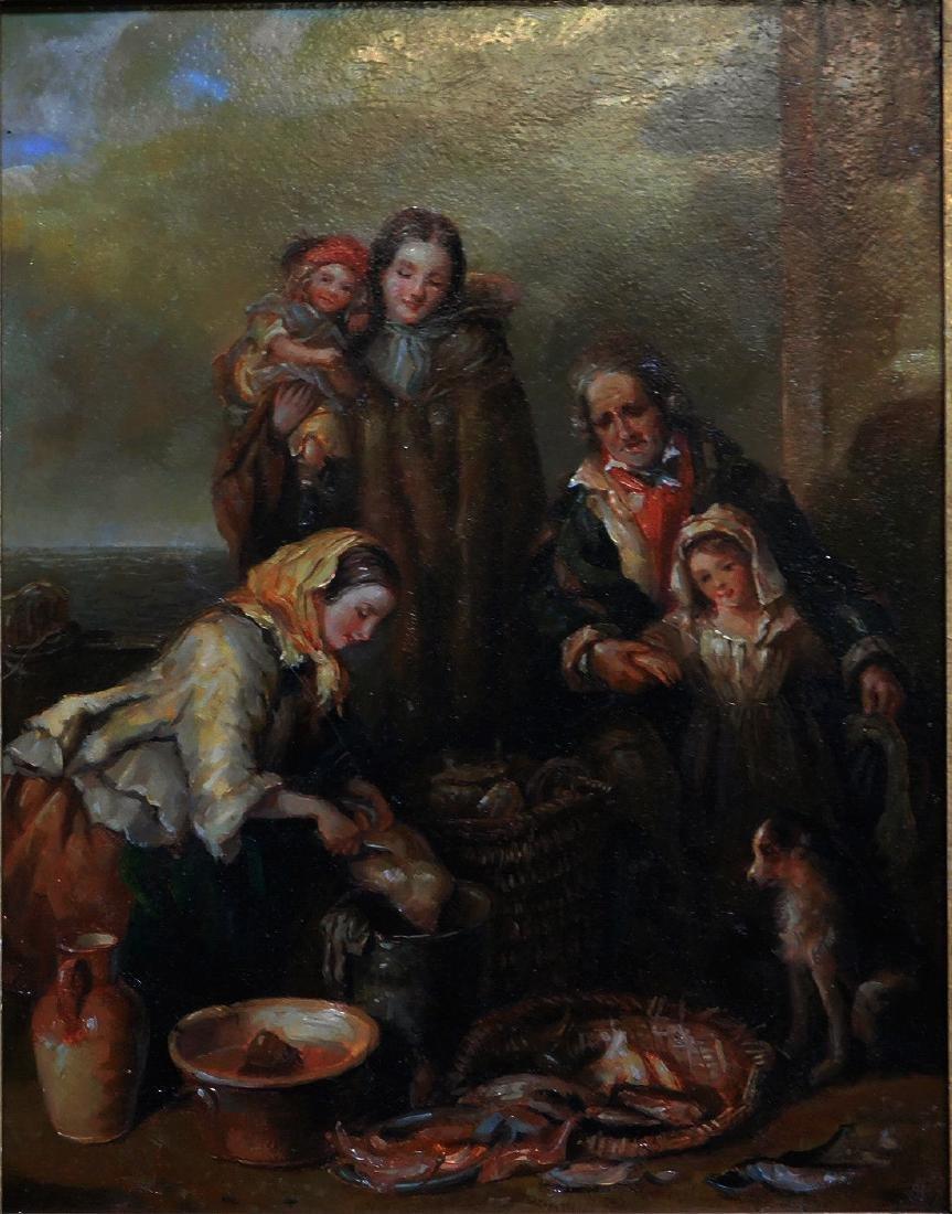 Beautiful Old European Oil Painting - 2