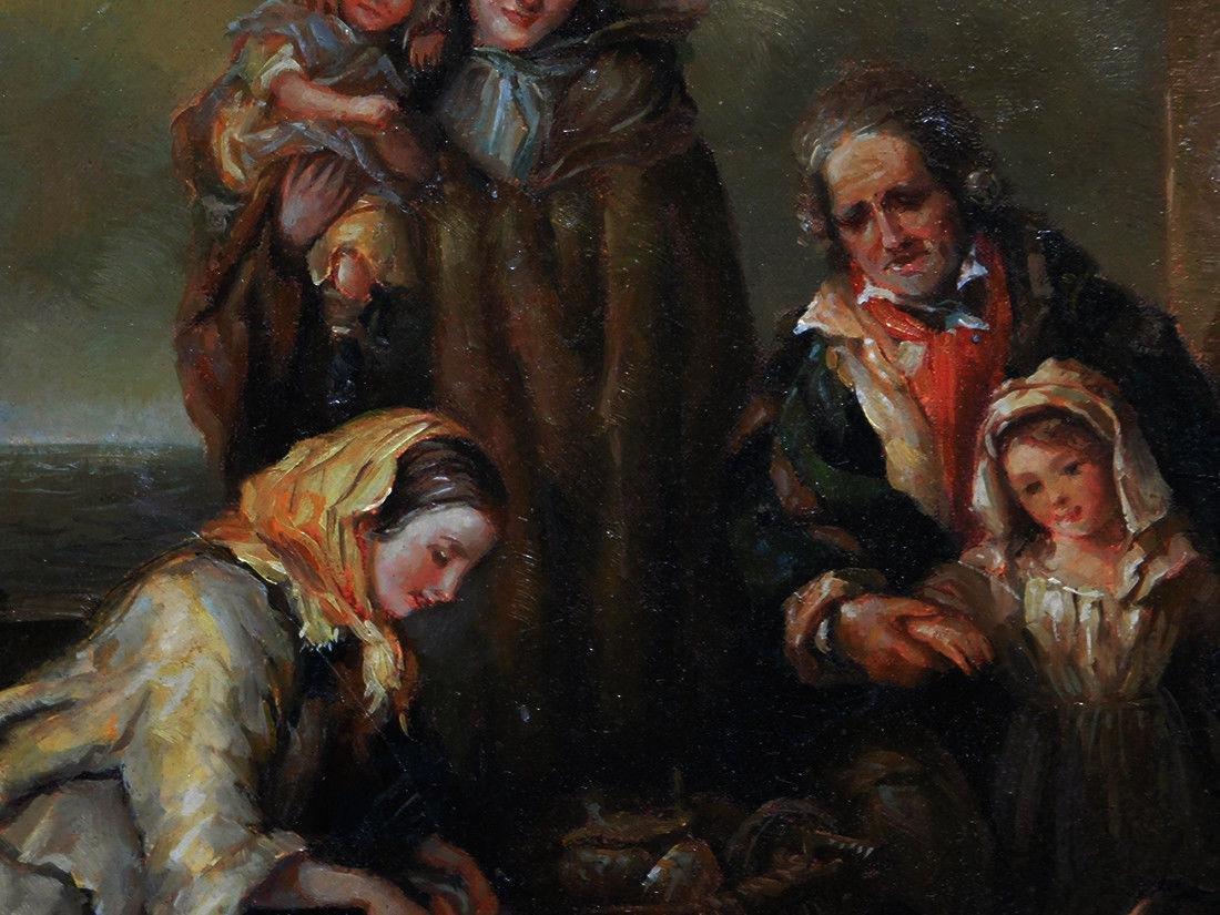 Beautiful Old European Oil Painting - 3