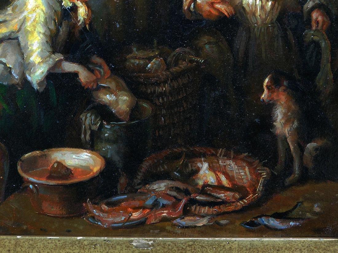 Beautiful Old European Oil Painting - 4