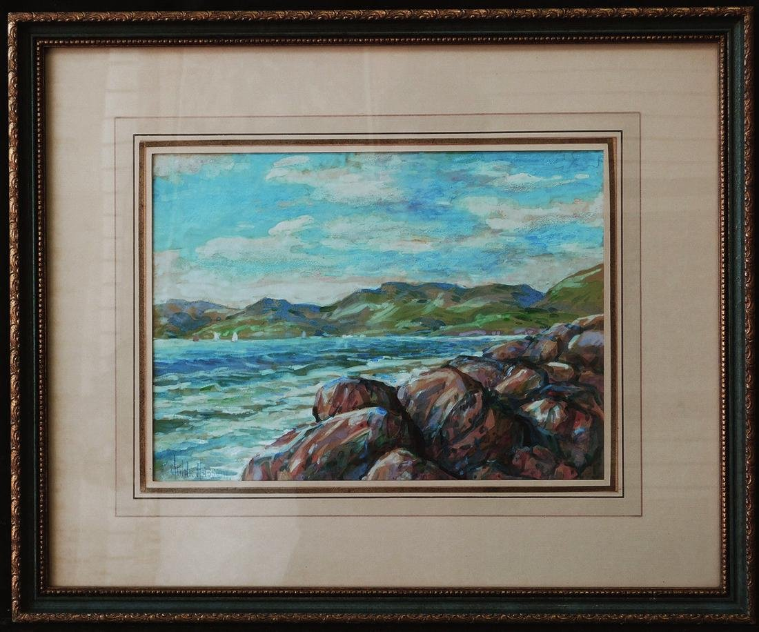 Childe Hassam (New York 1859 - 1935) Watercolor