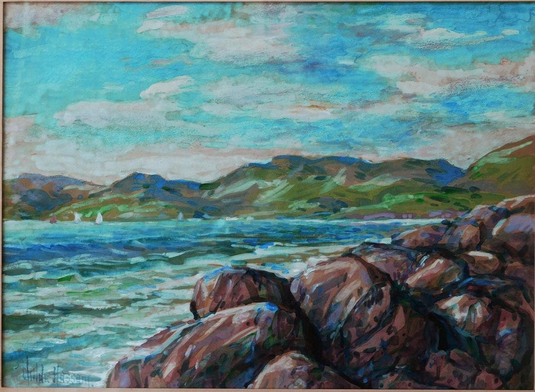 Childe Hassam (New York 1859 - 1935) Watercolor - 2