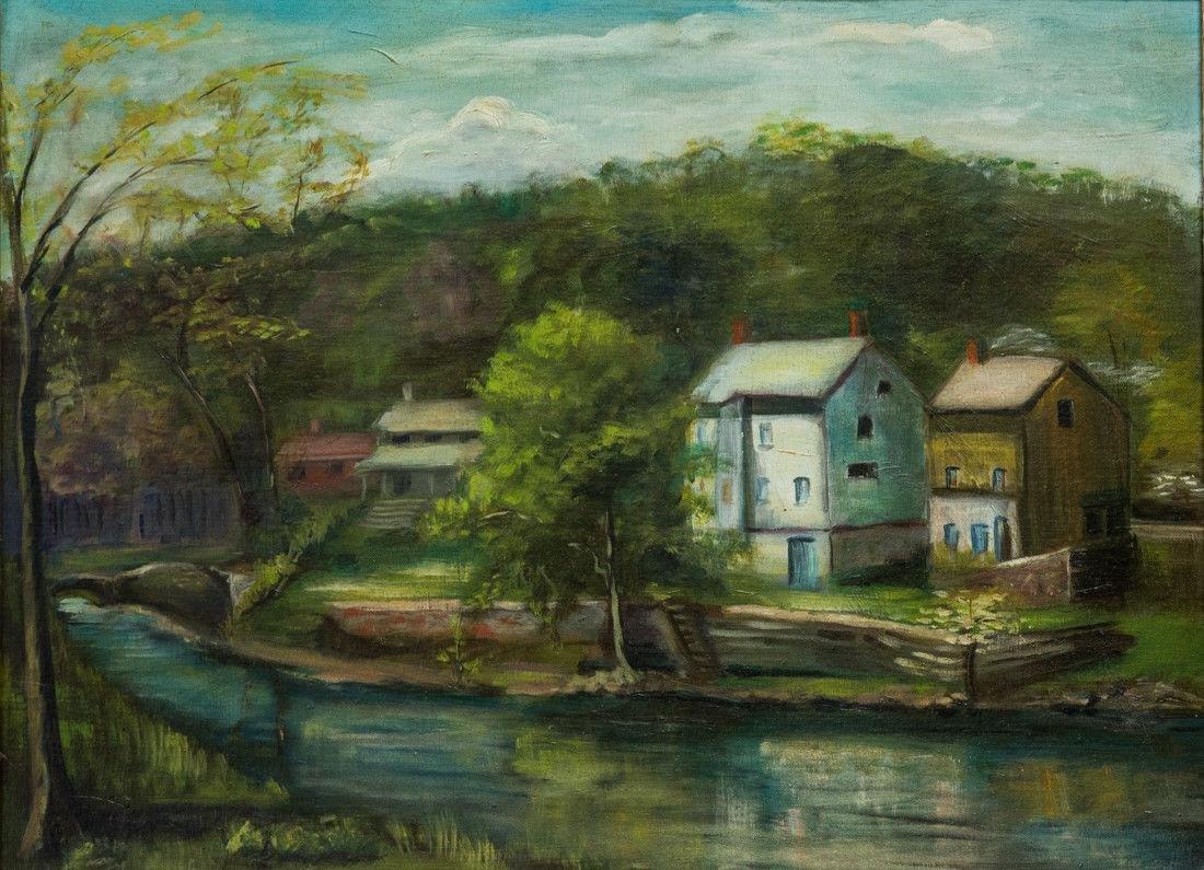 Nancy Ferguson (PA/CA, 1872-1967) Oil - 2