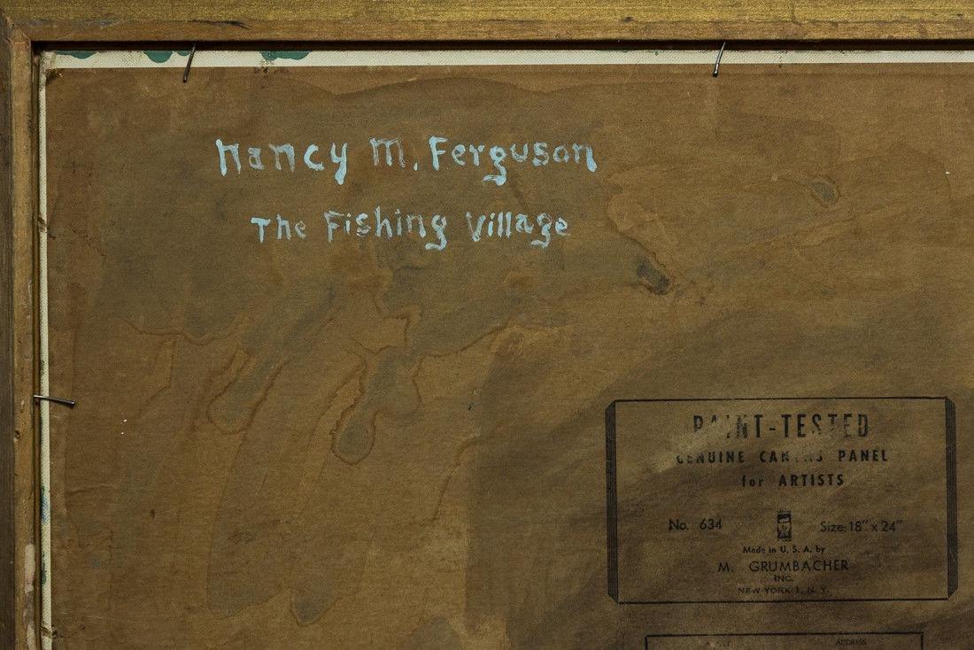 Nancy Ferguson (PA/CA, 1872-1967) Oil - 9