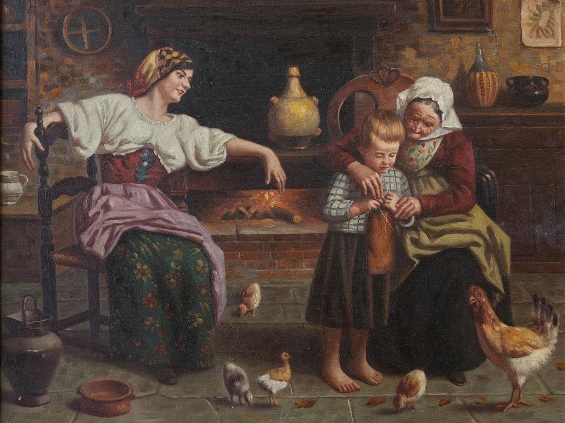 Family with Chickens - 2