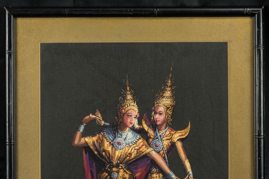 Thai Dancers, Gouache on Paper - 3