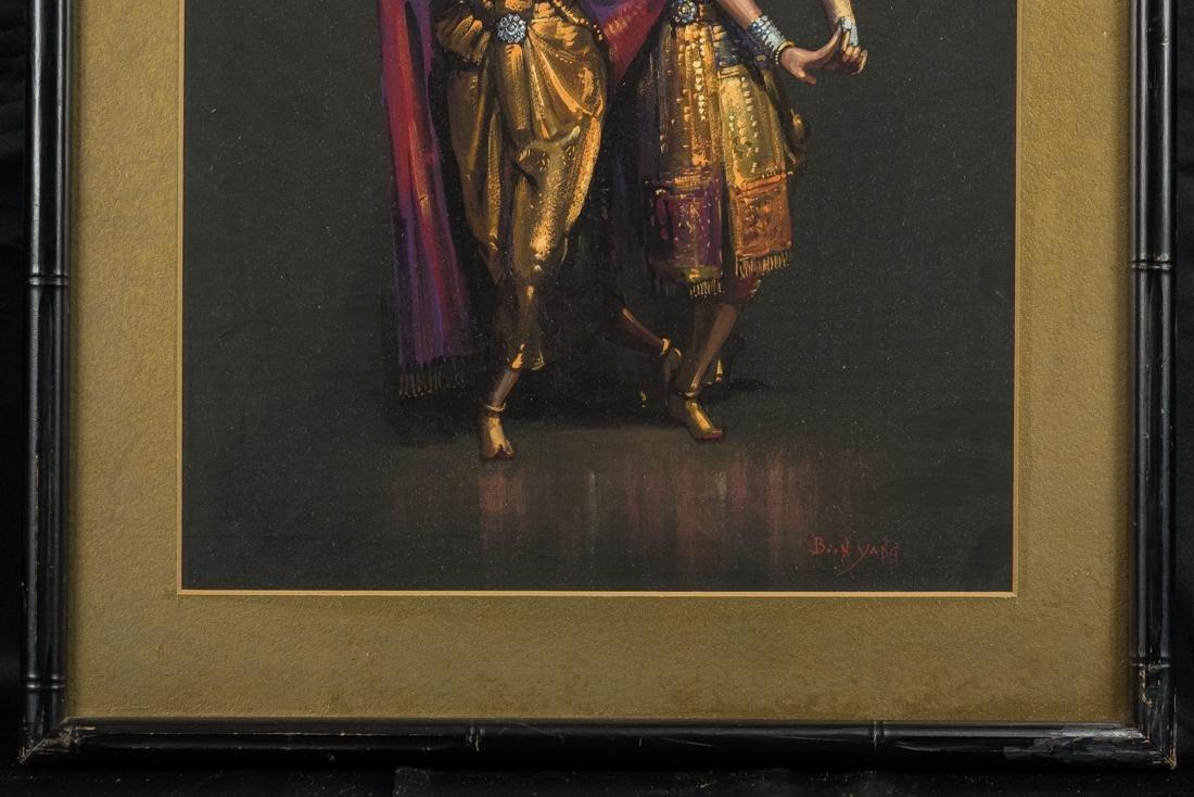 Thai Dancers, Gouache on Paper - 4