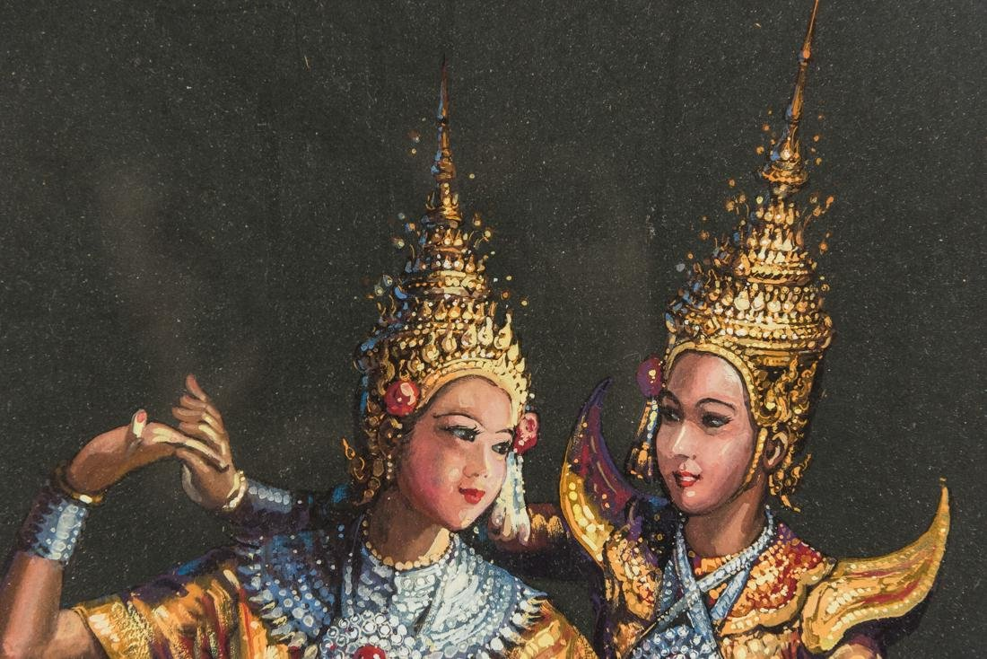 Thai Dancers, Gouache on Paper - 5