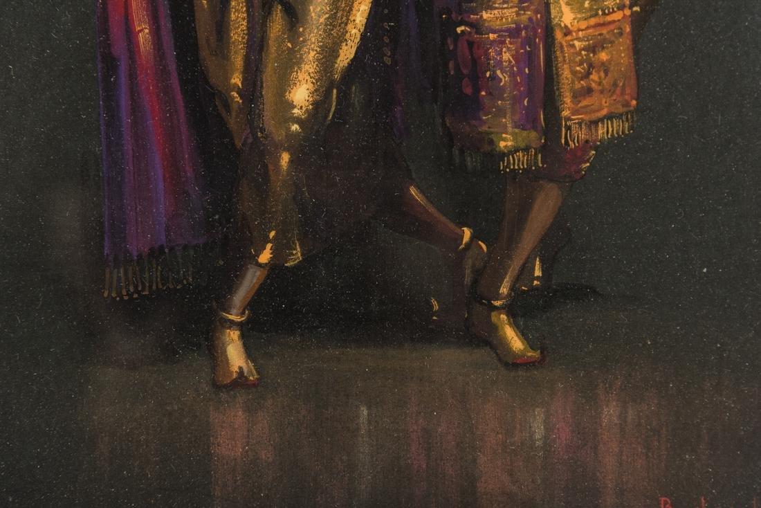 Thai Dancers, Gouache on Paper - 8