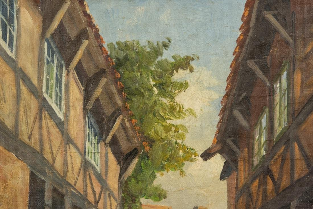 Town Scene, Oil on Canvas - 5