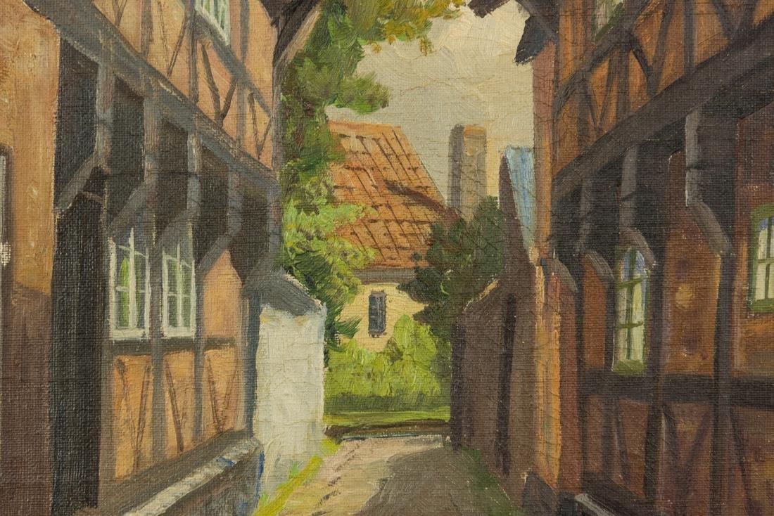 Town Scene, Oil on Canvas - 6