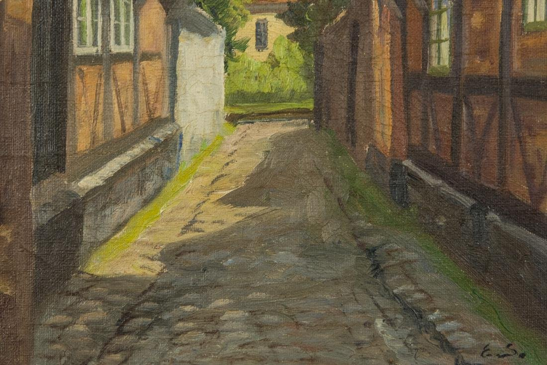 Town Scene, Oil on Canvas - 7