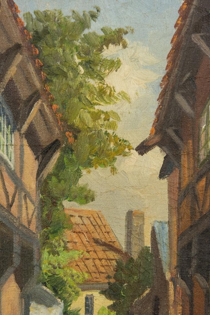 Town Scene, Oil on Canvas - 8