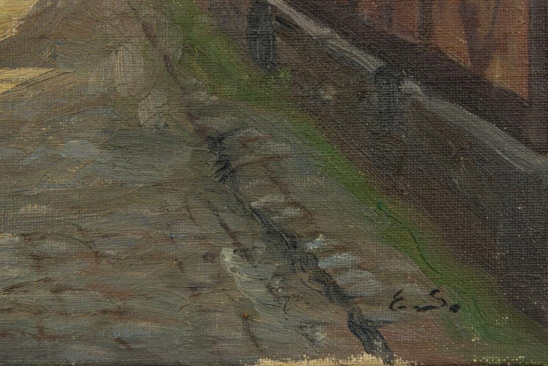 Town Scene, Oil on Canvas - 9
