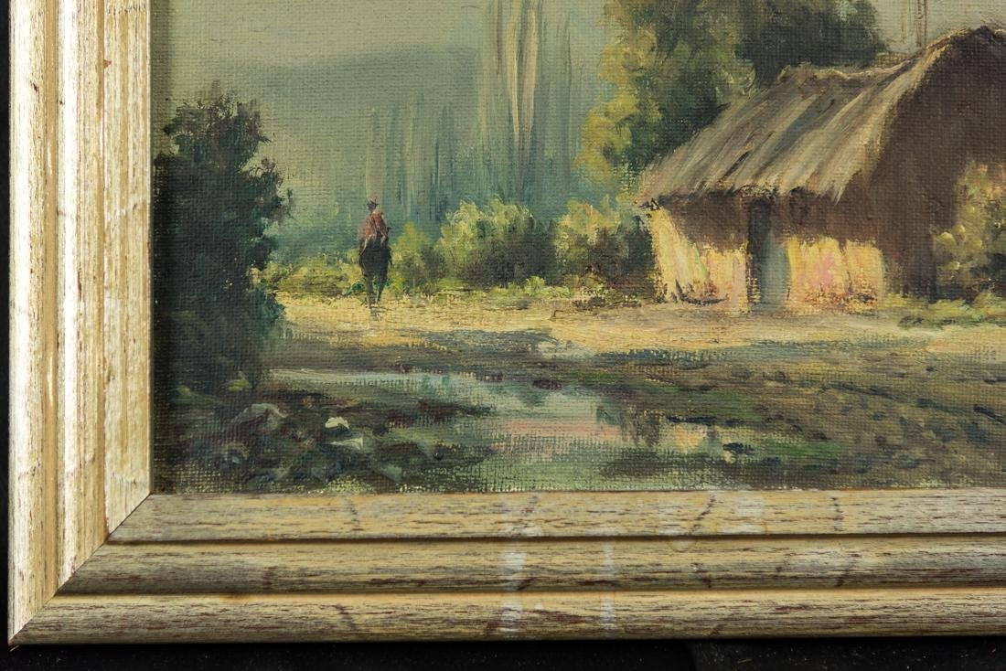 House by the Stream, Oil / Canvas. - 4