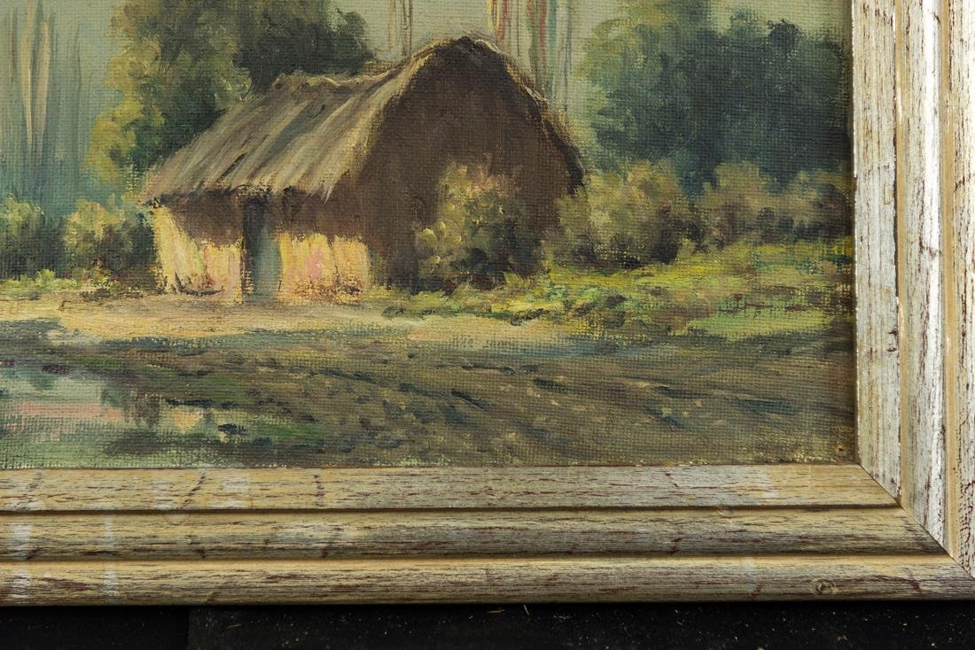 House by the Stream, Oil / Canvas. - 6