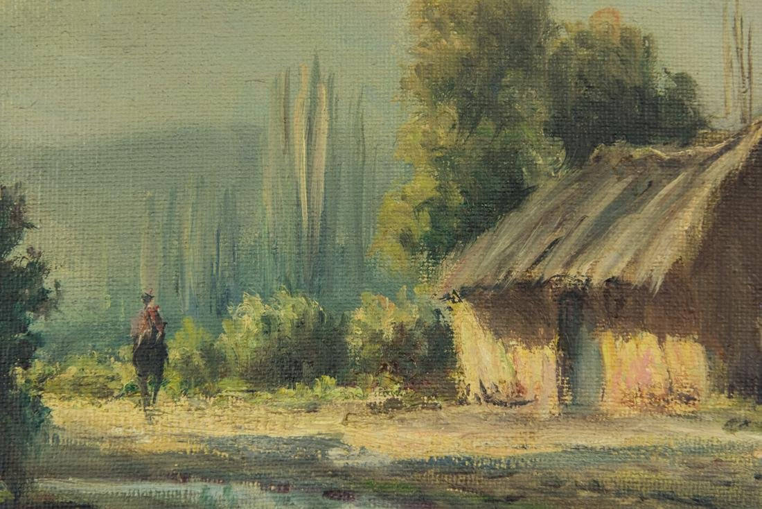 House by the Stream, Oil / Canvas. - 7