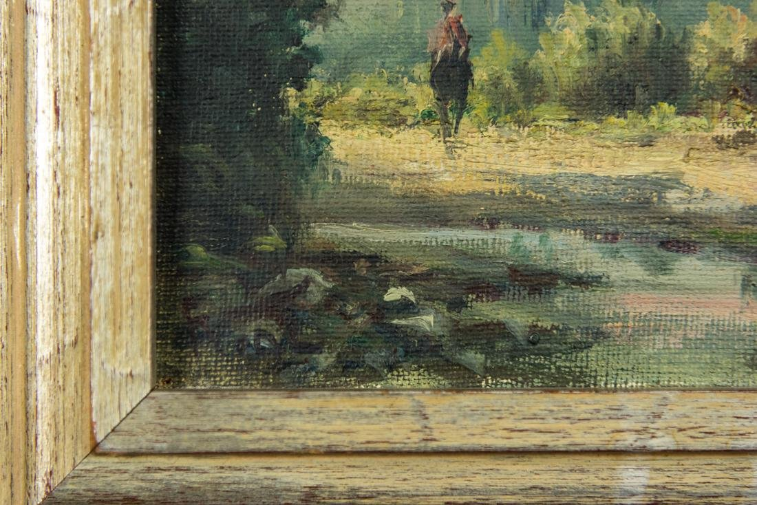 House by the Stream, Oil / Canvas. - 9
