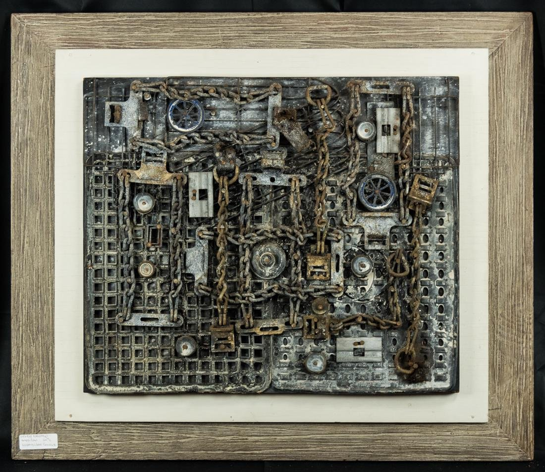 "Henry Newman Assemblage Art ""Homage to Houdini"""