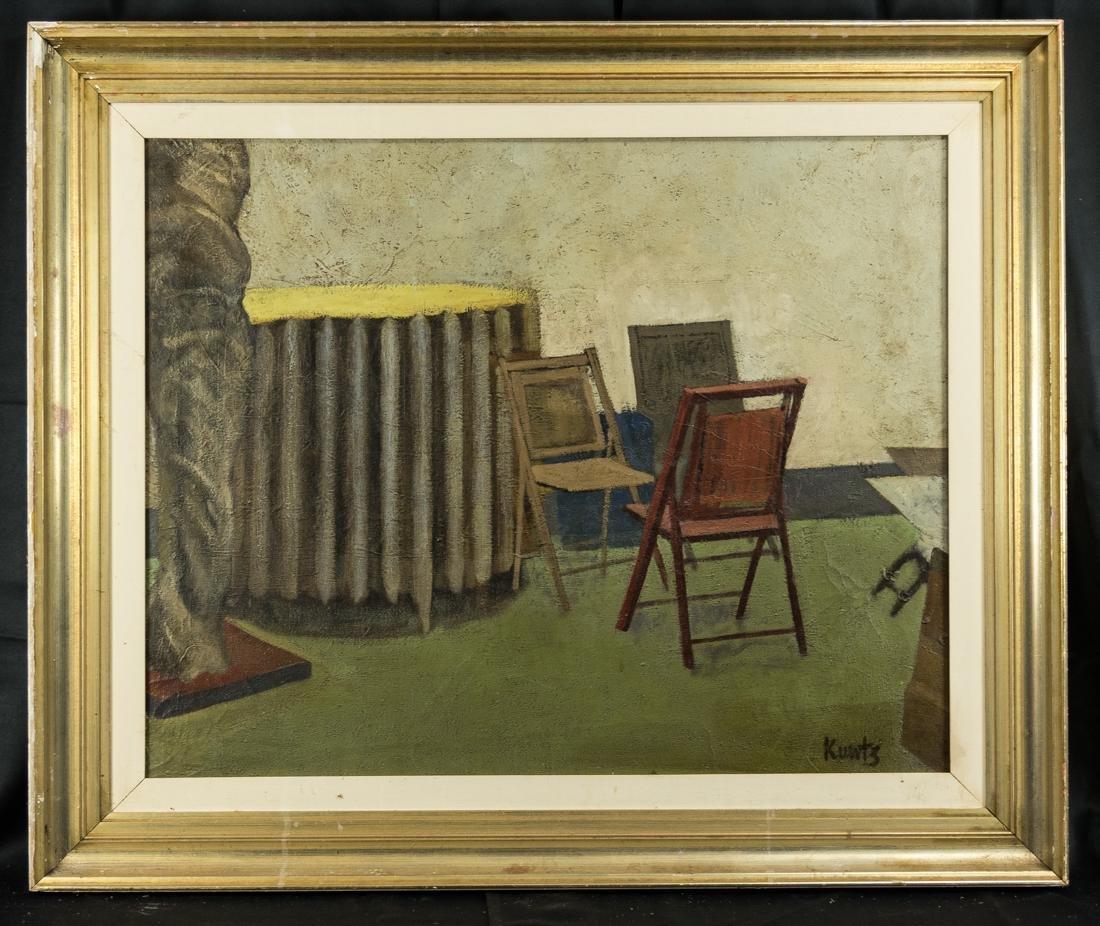 Roger Kuntz  (CA 1926 - 1975) Oil