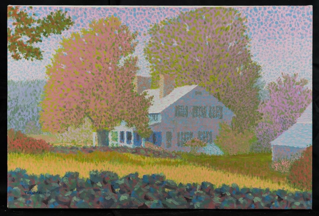 Summer Landscape Oil Painting Vintage